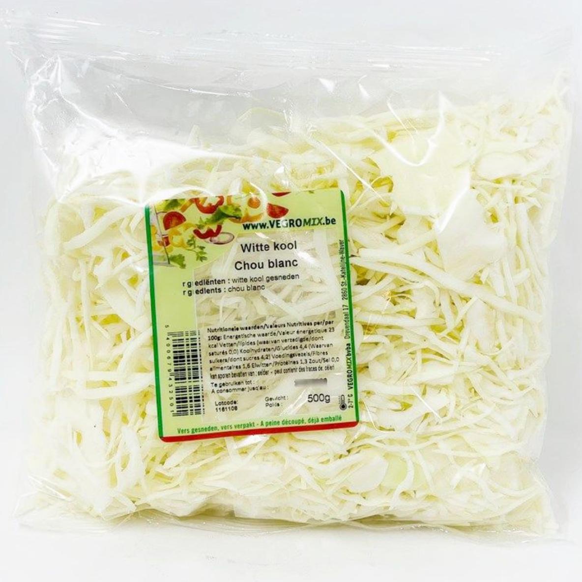 Chou blanc râpé 500g