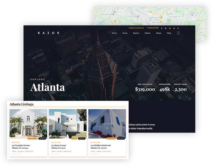 Hyperlocal Area Pages