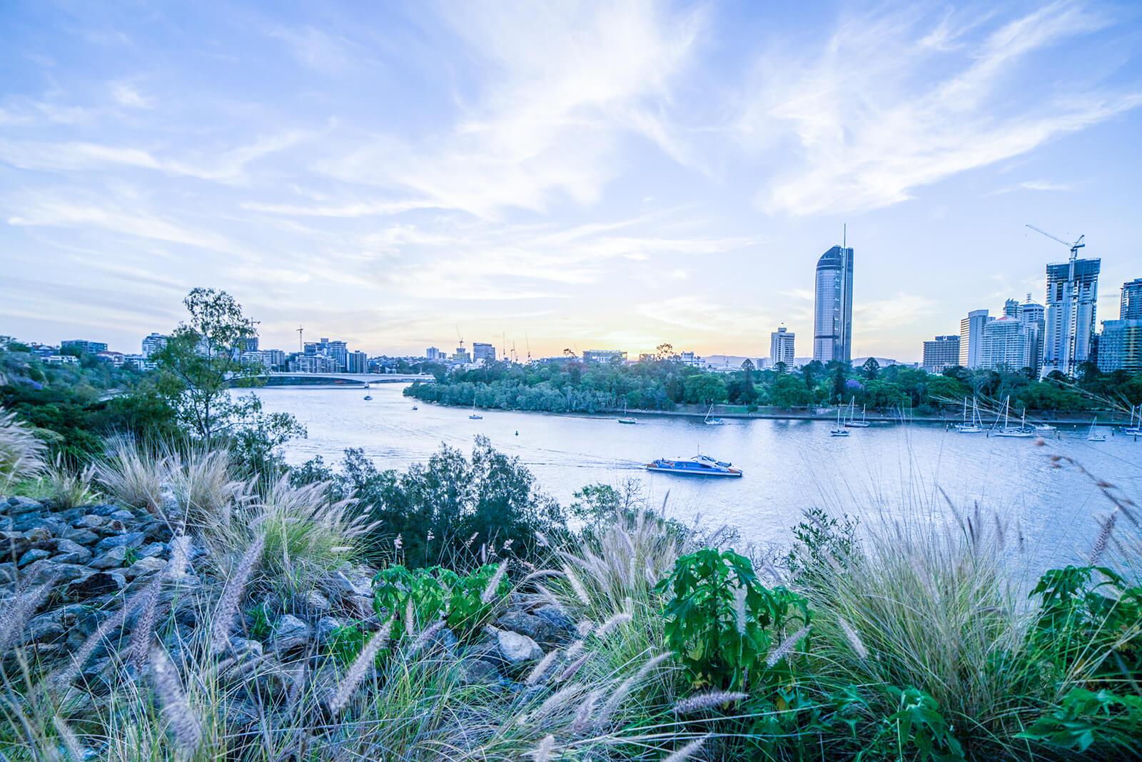 Brisbane River from Kangaroo Point Cliffs