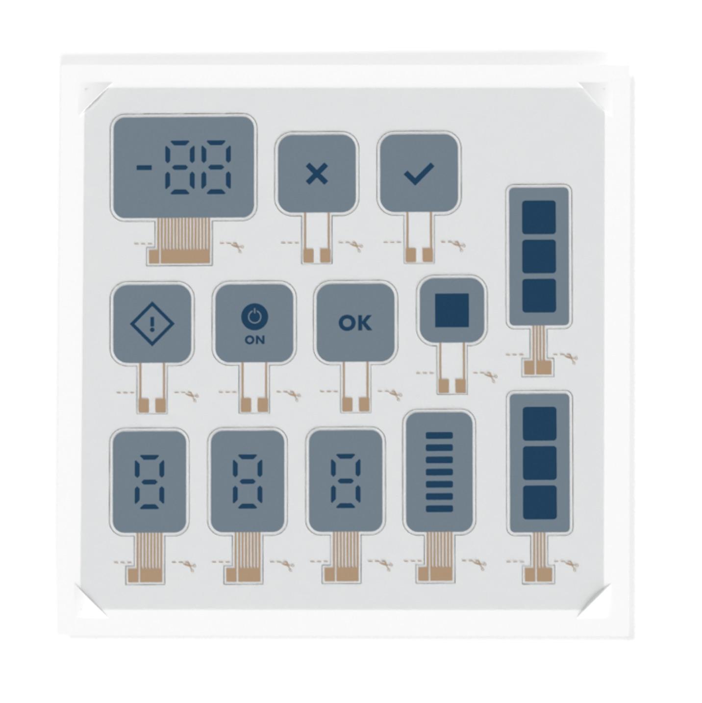 Ynvisible Segment Display Kit display sheet