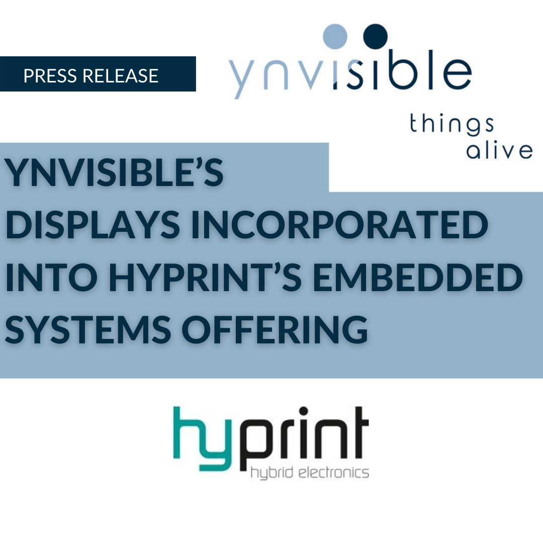 YNVISIBLE'S DISPLAYS INCORPORATED INTO HYPRINT'S EMBEDDED SYSTEMS OFFERING