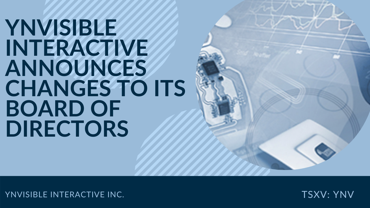 Ynvisible Interactive Announces Changes To Its Board Of Directors