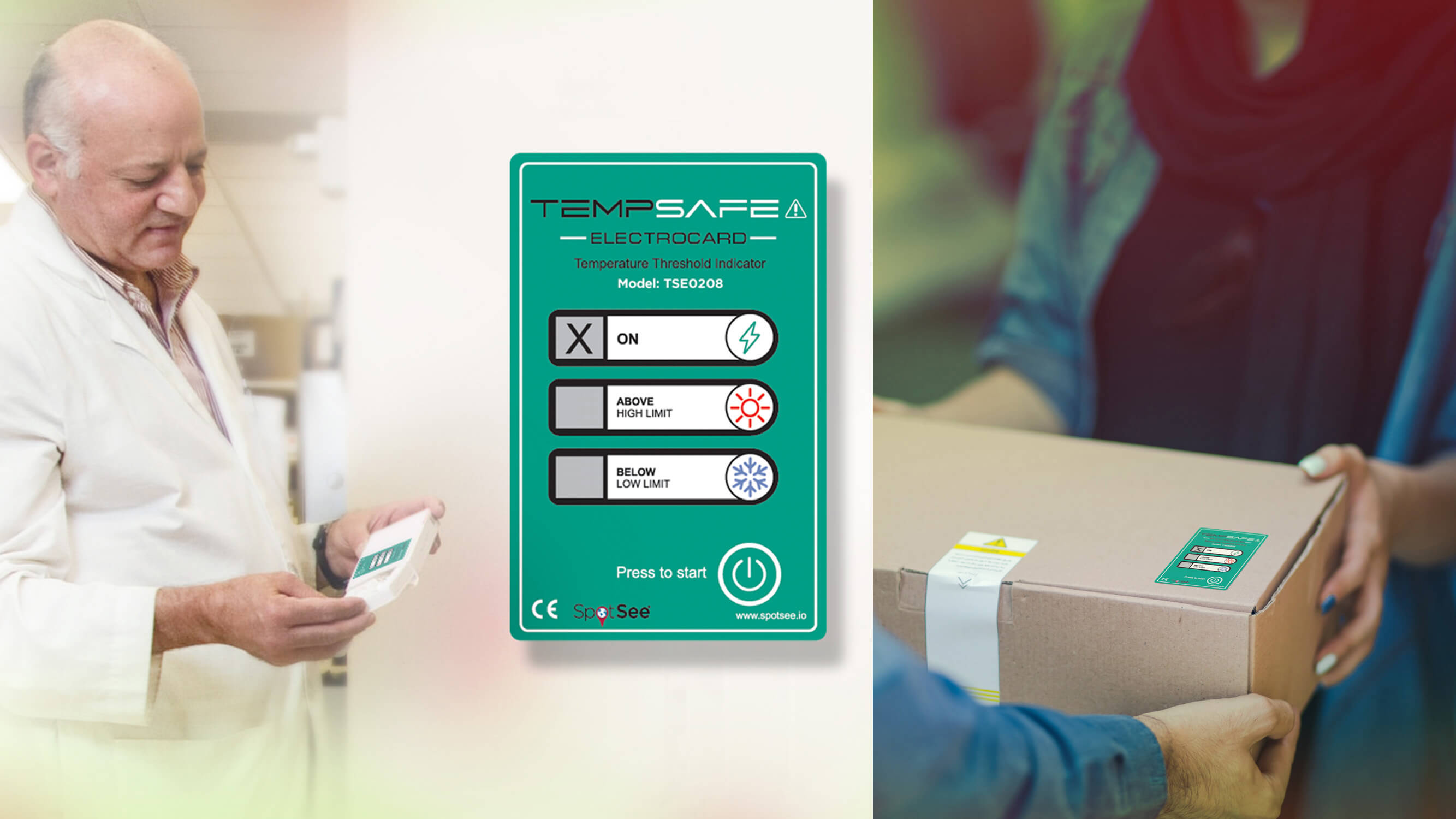TempSafe Electrocard for logistics monitoring