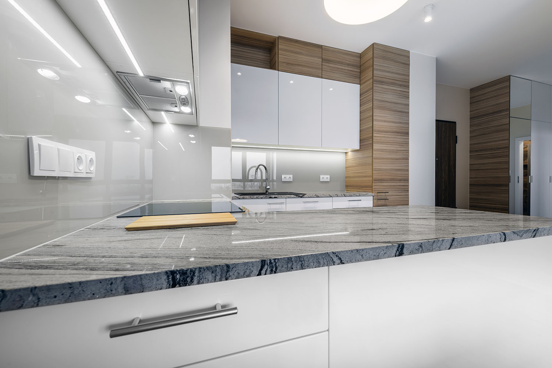 Modern Stone Counter Kitchen