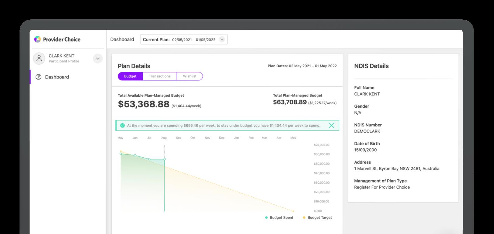 A screenshot of the plan management dashboard