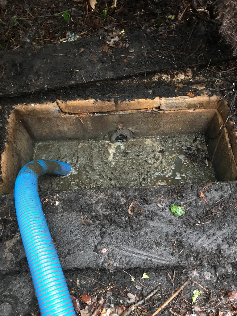 A cesspit being emptied by Southern Energy Solutions