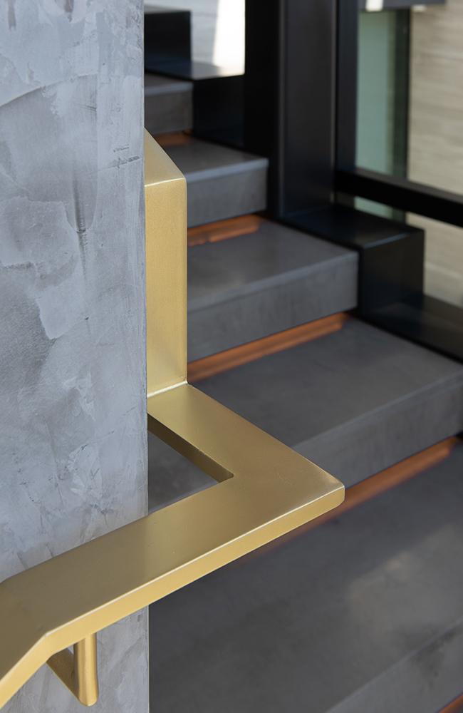 Custom Modern Brass Handrail