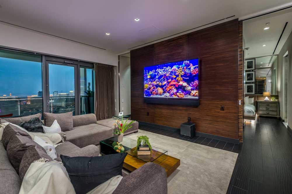 The Palms Place Penthouse Living Room - Las Vegas
