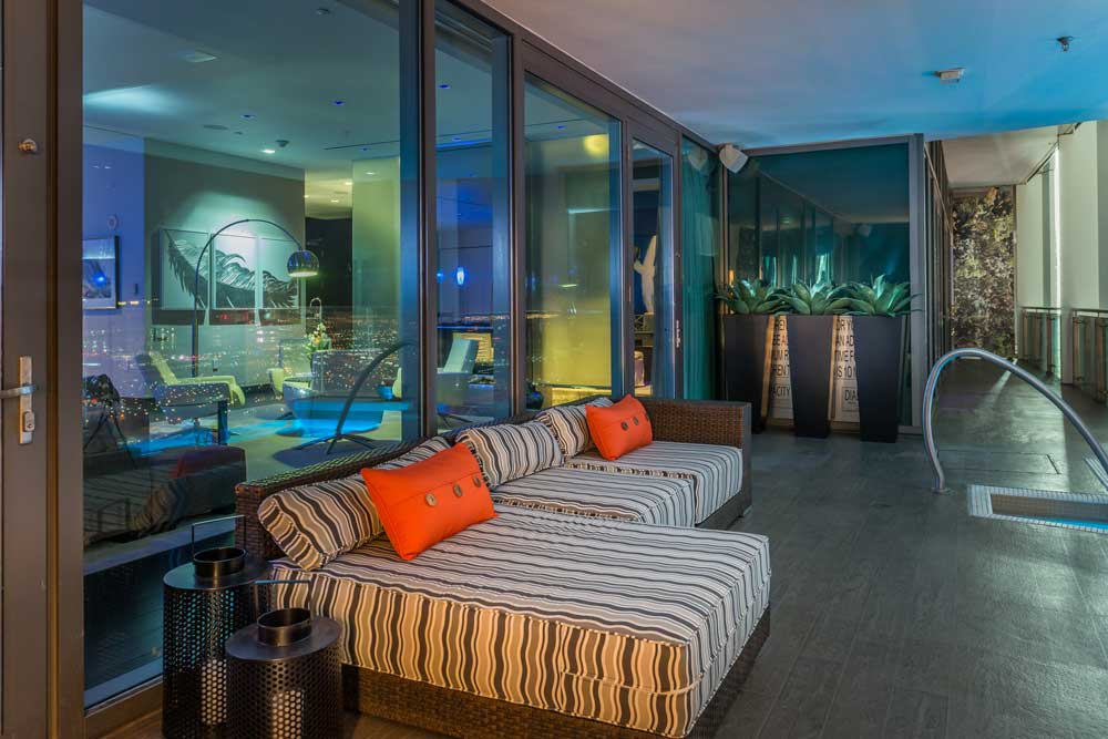 The Palms Place Penthouse Deck and Sitting Area - Las Vegas