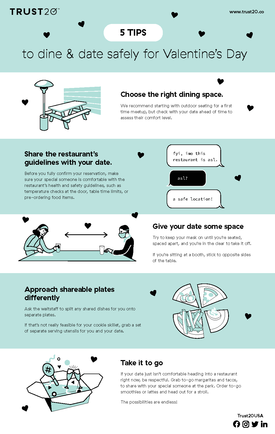 Date & Dine Safely for Valentine's Day
