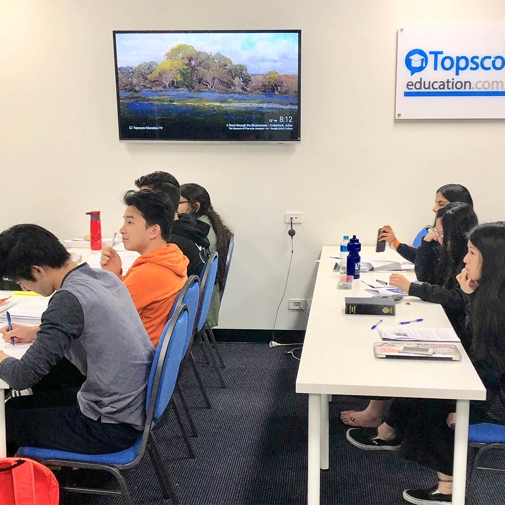 VCE prep with Topscore Education, Melbourne