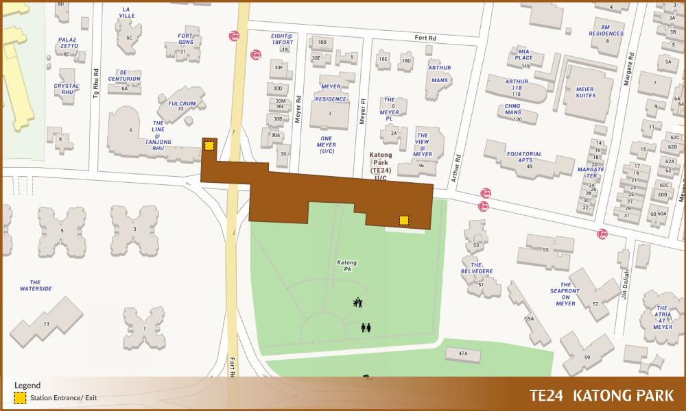 Katong Park TEL Station Diagram