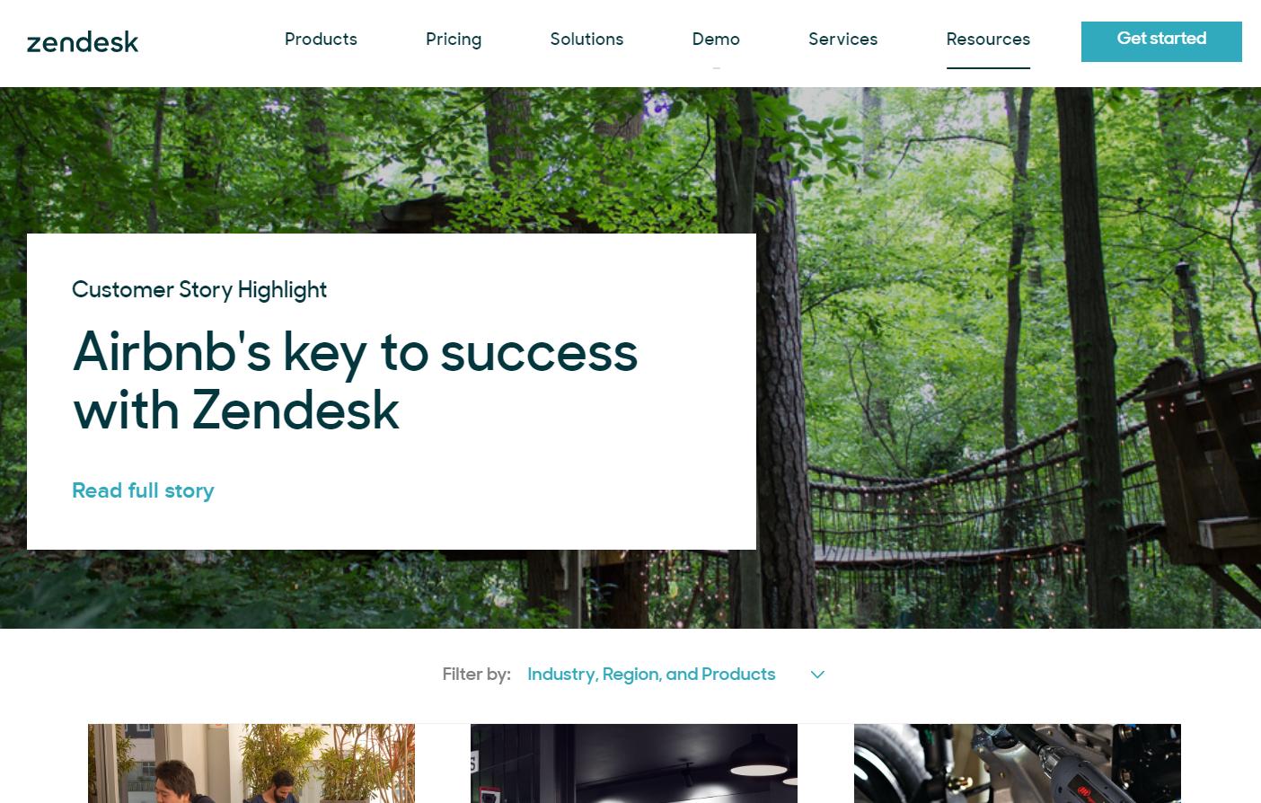 Zendesk Customer Testimonial Page
