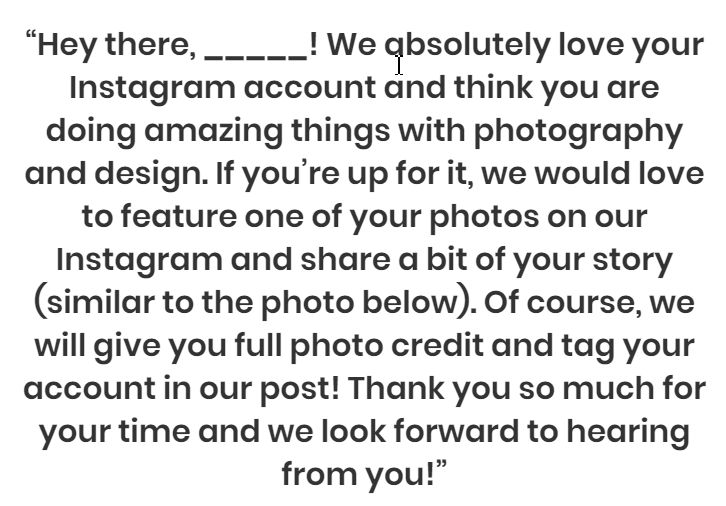 Buffer's outreach message to Instagram influencers increases brand trust by building relationships.