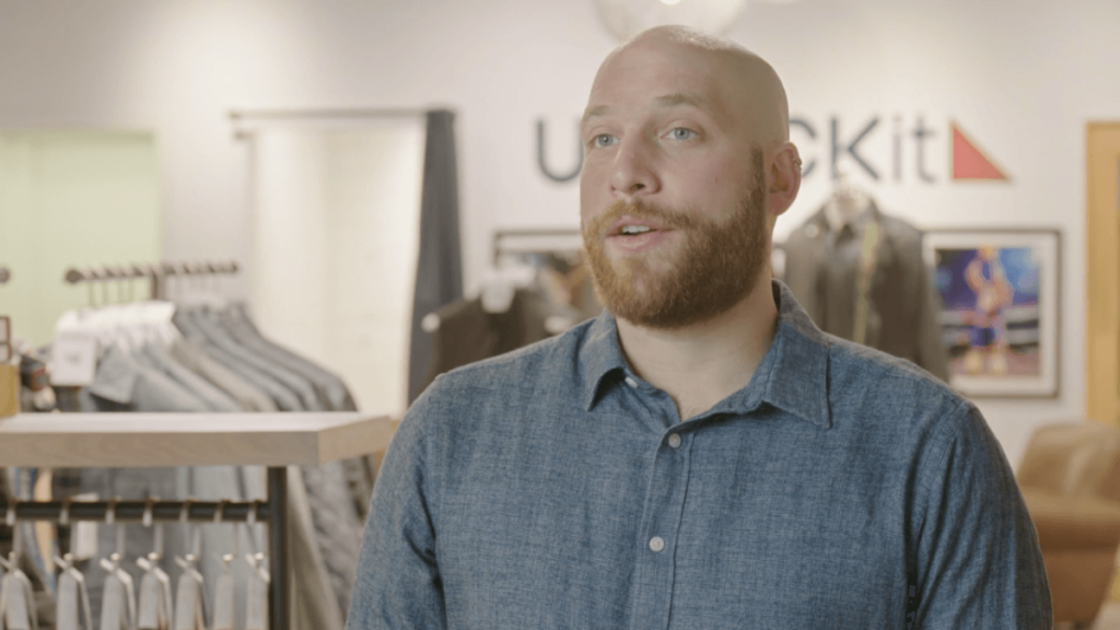 Open Background - UNTUCKit testimonial for NewStore