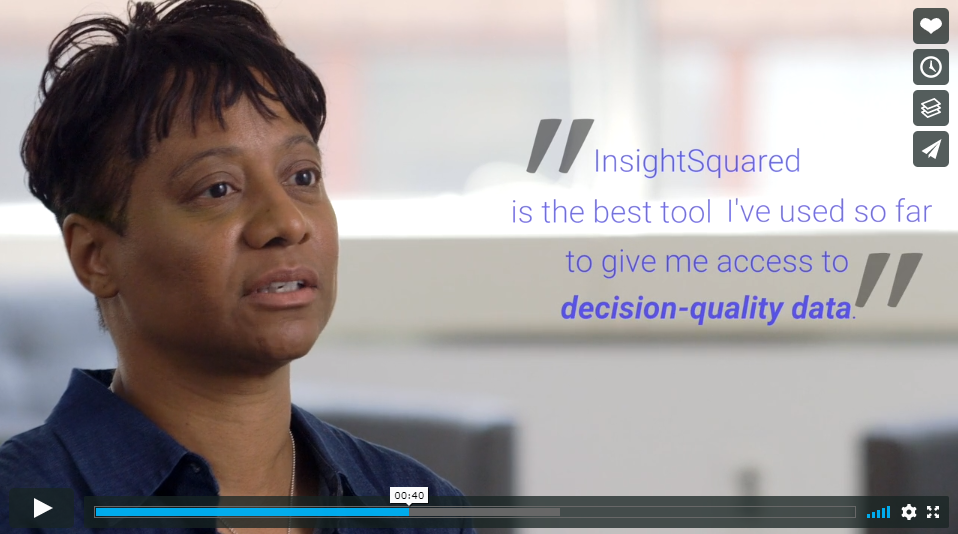 InsightSquared uses video testimonials to drive sales.