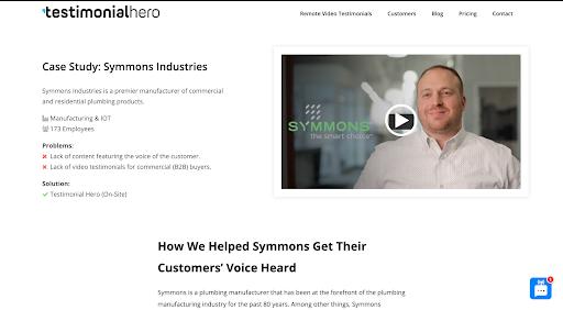 Symmons industries case study intro
