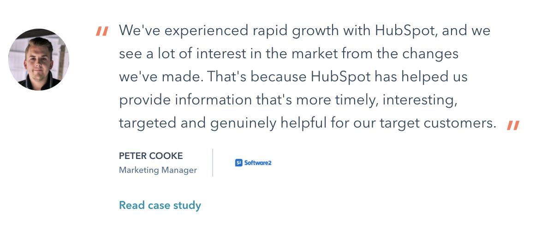 Case study featured on HubSpot