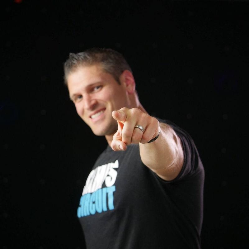 "Sami's Circuit Founder Sami Kader pointing at the camera saying ""you got this!"""