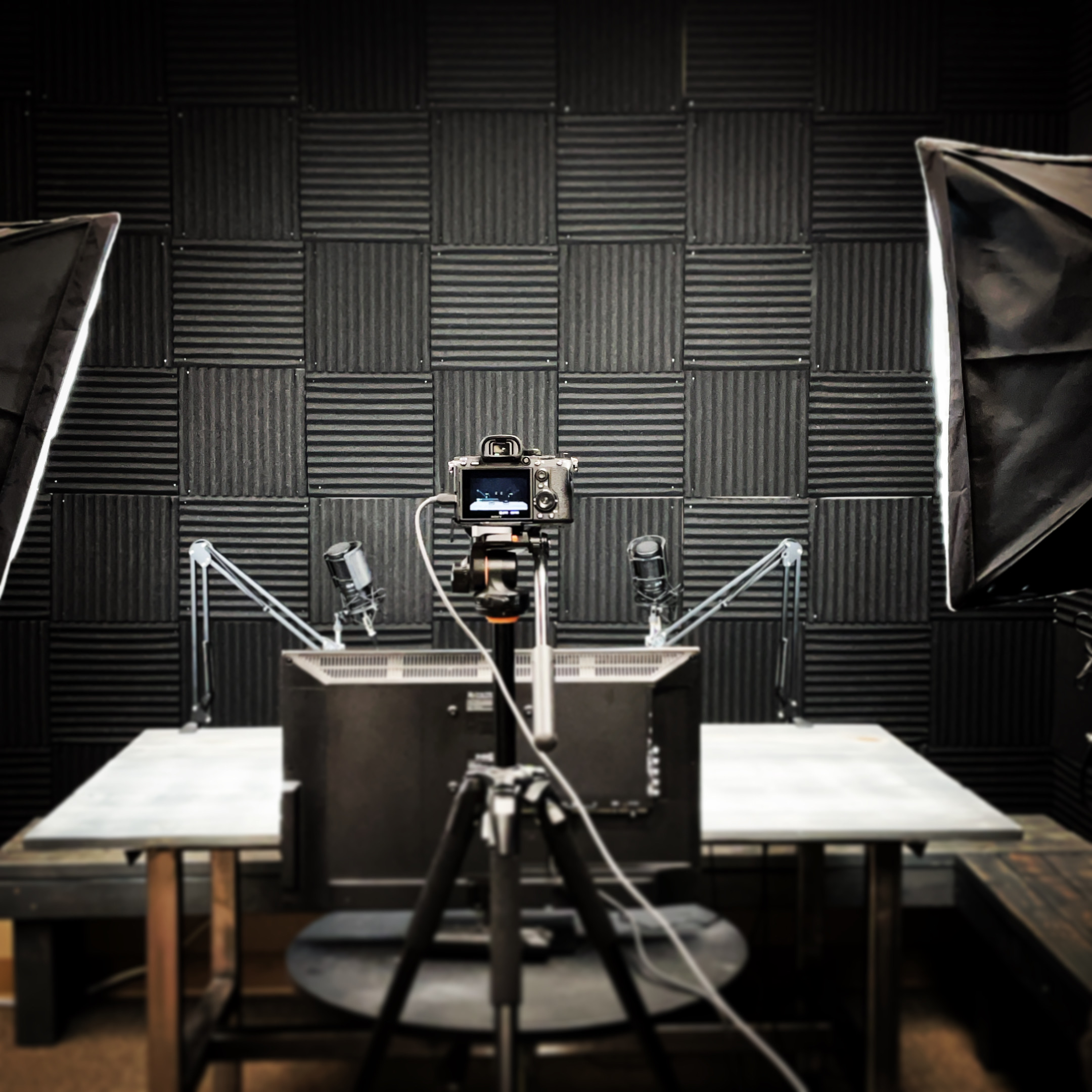 Camera and microphones in the ABV Recording Studio