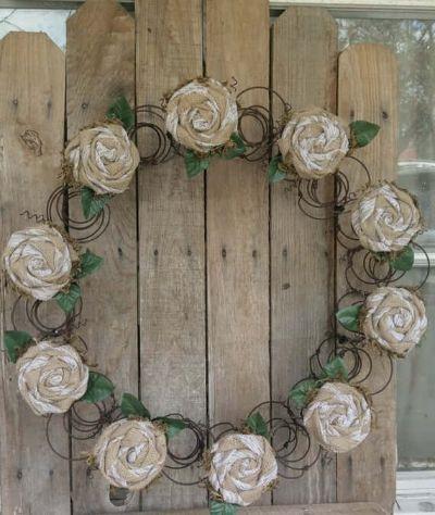 mattress recyle wreath