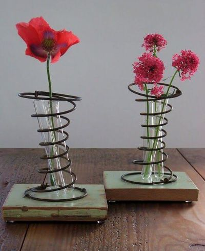 mattress spring vase