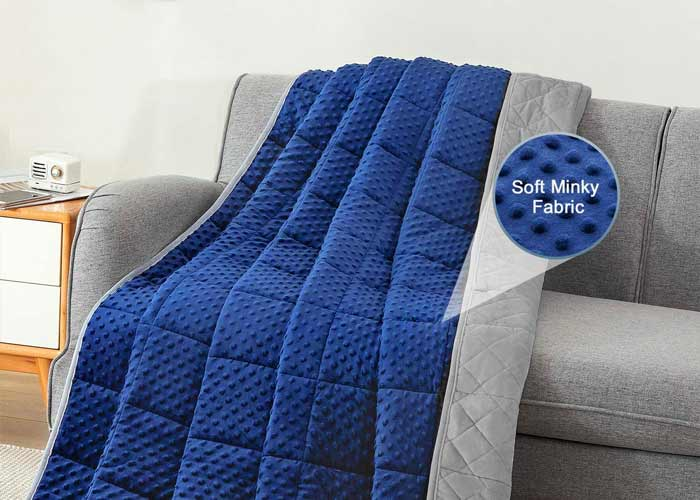 weighted blanket minky fabric