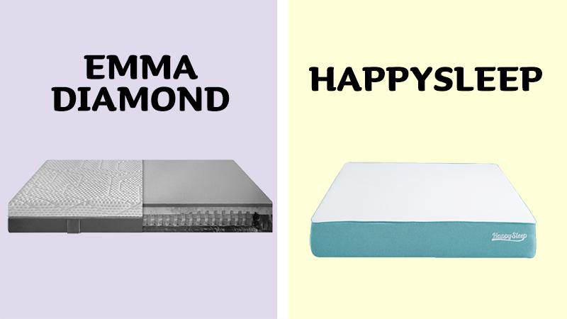 Emma Diamond Hybrid vs HappySleep