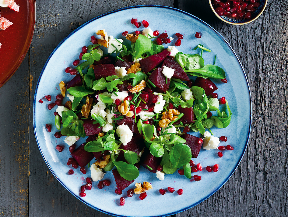 Dit weekend rode bieten salade met feta en balsamico stroop!!