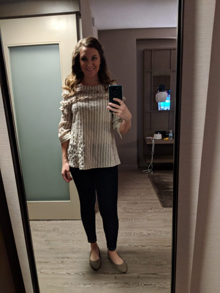 second day outfit for the interior designers design influencer conference in atlanta