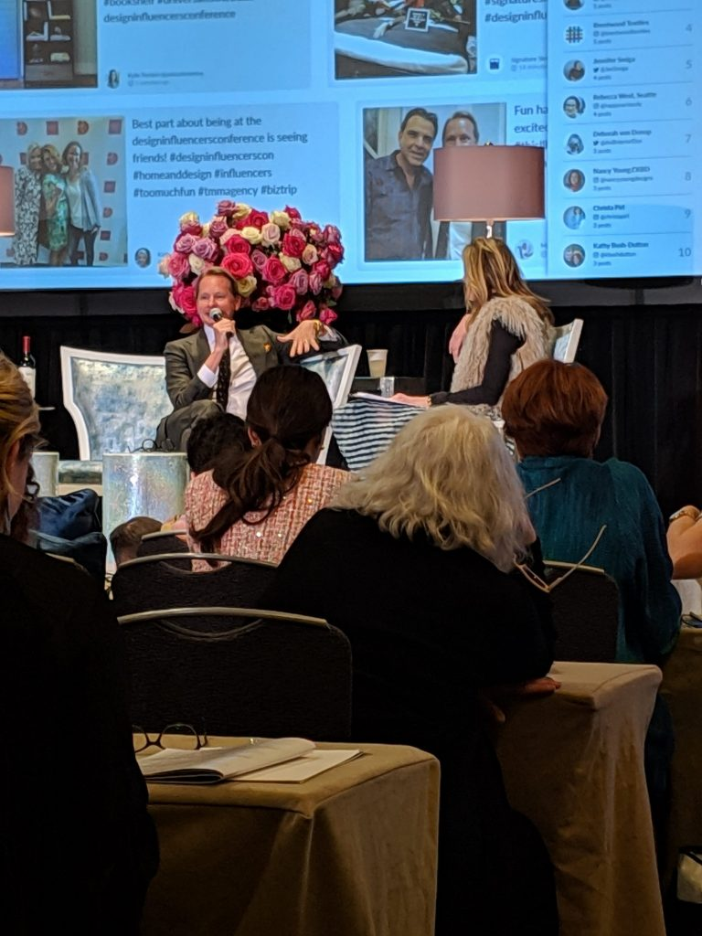 carson kressley presenting at the design influencers conference for interior designers and bloggers