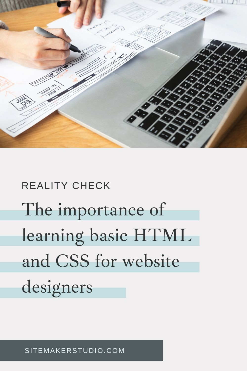 it's important for aspiring web designers to learn HTML and CSS