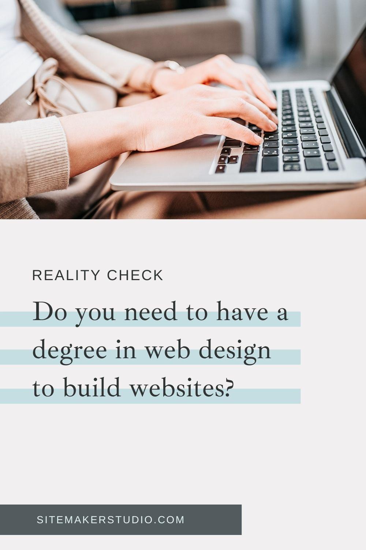 do i need a degree to be a web designer