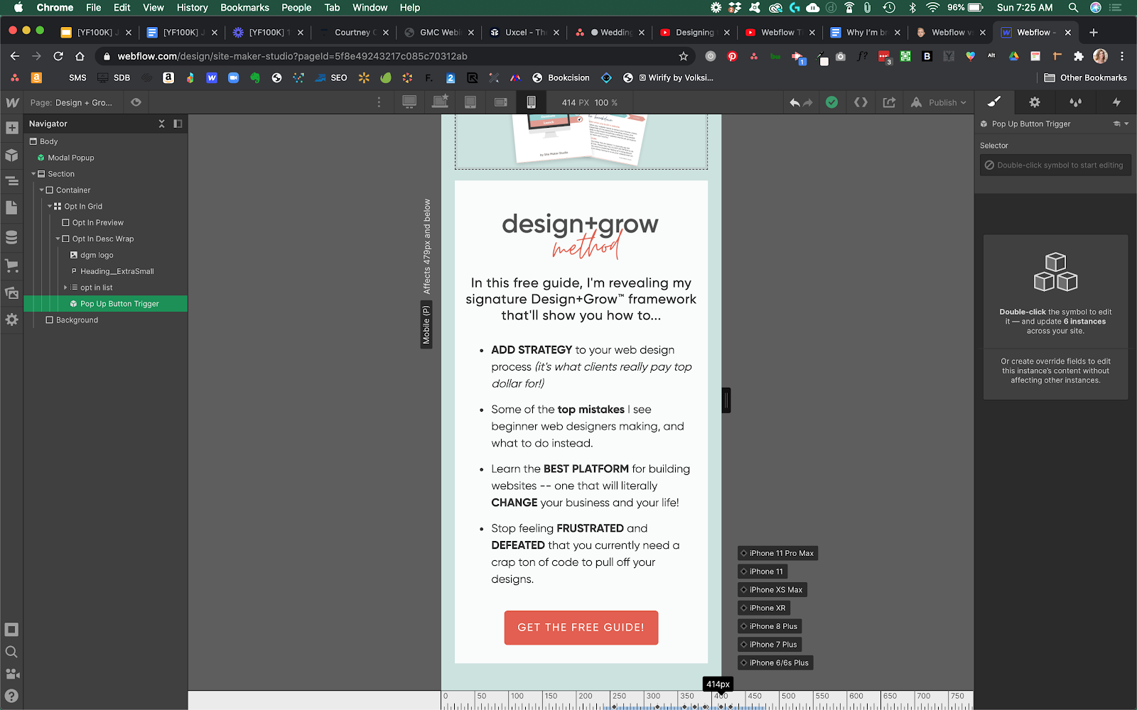 responsive design on webflow design for any device