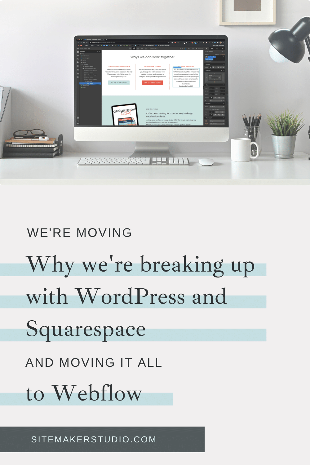 switching to Webflow from WordPress and Squarespace