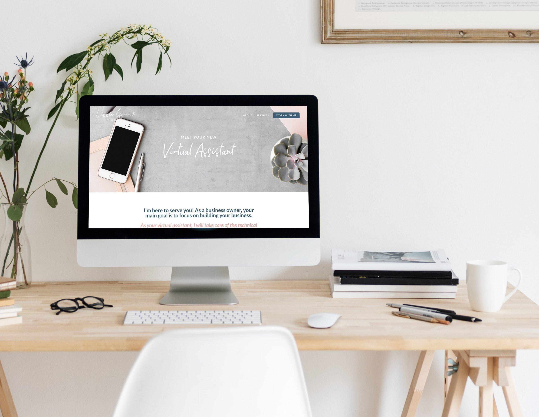 Libbie custom website design by site maker studio