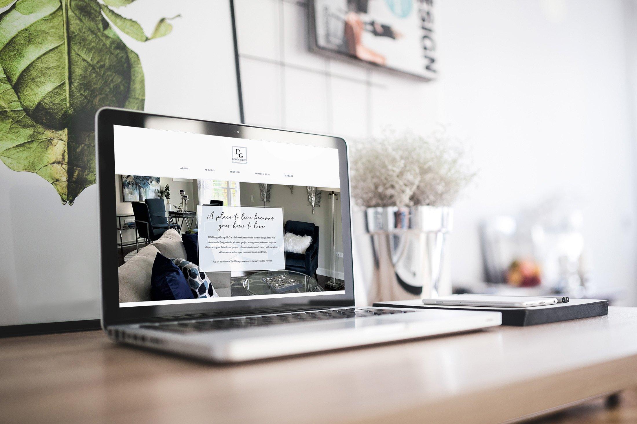 contemporary light airy website design for interior designer by site maker studio jennifer sanjines designer
