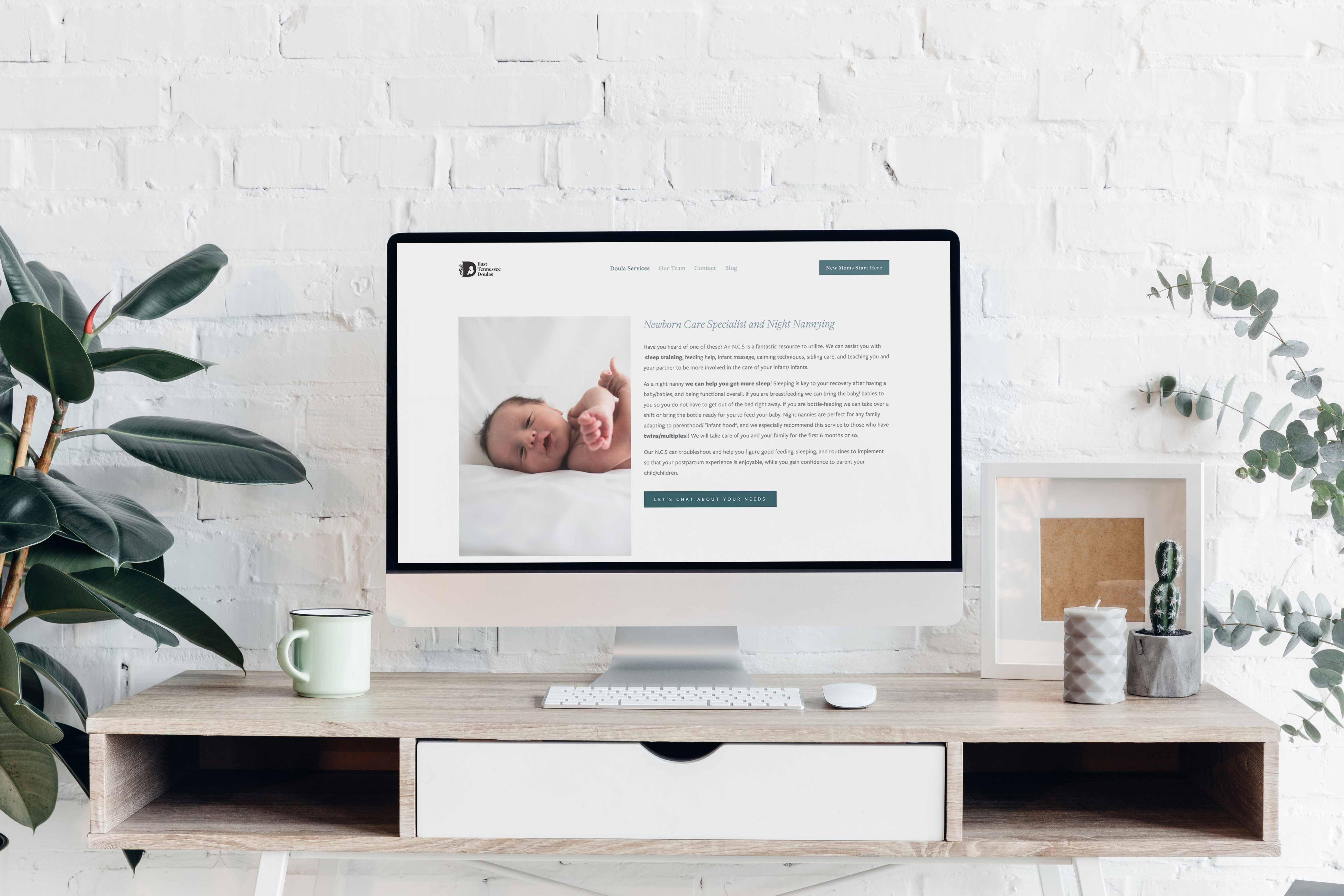 east tennessee doulas website design by jennifer sanjines at site maker studio