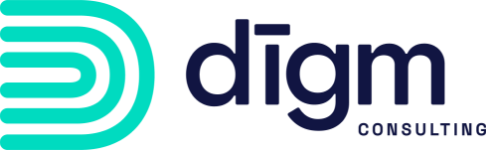digm consulting footer logo in blue and teal