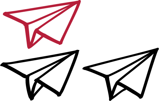 People Rocket paper airplanes in flight