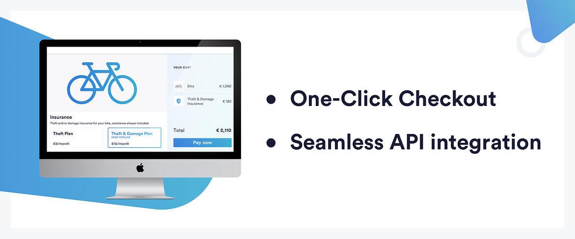 InsurTech Qover's open API allows for a single-click checkout process