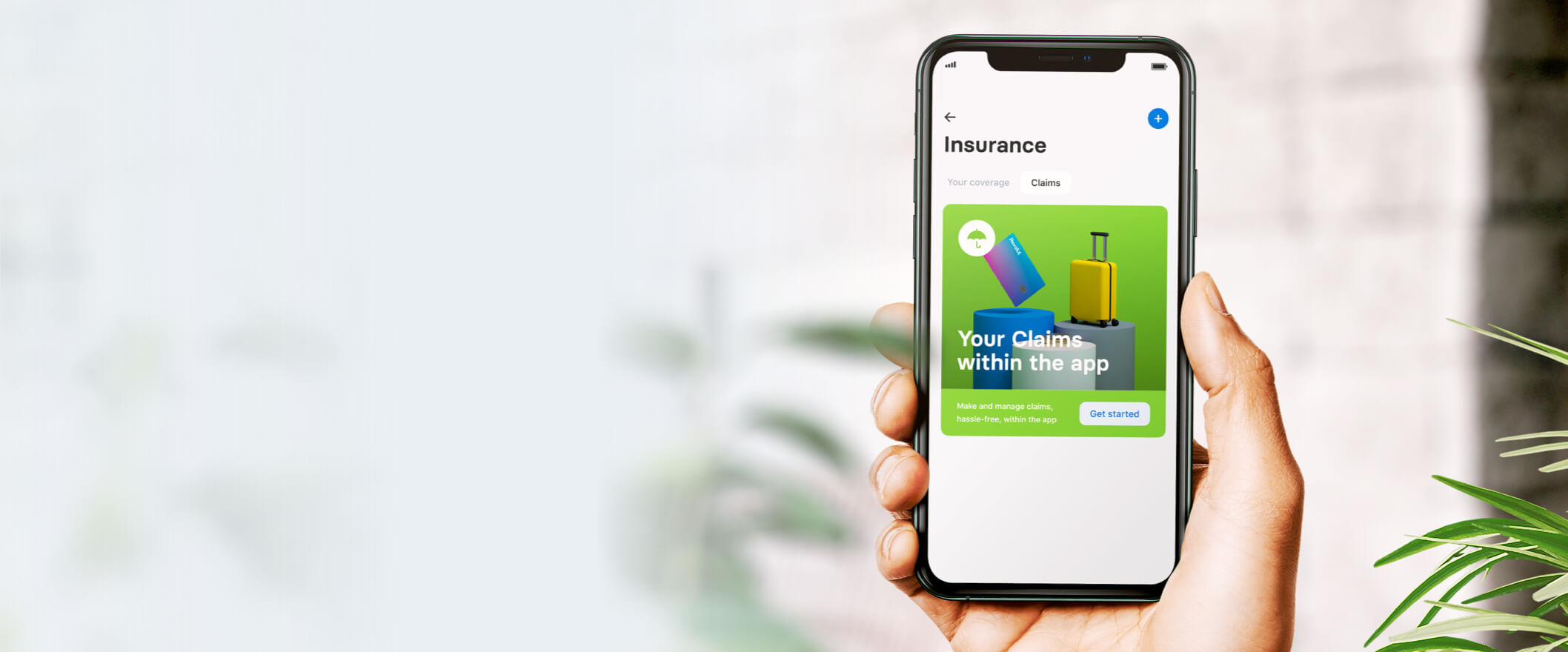 a FinTech user looking at a claim on their digital insurance app