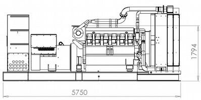 1500kVA Generator Drawing
