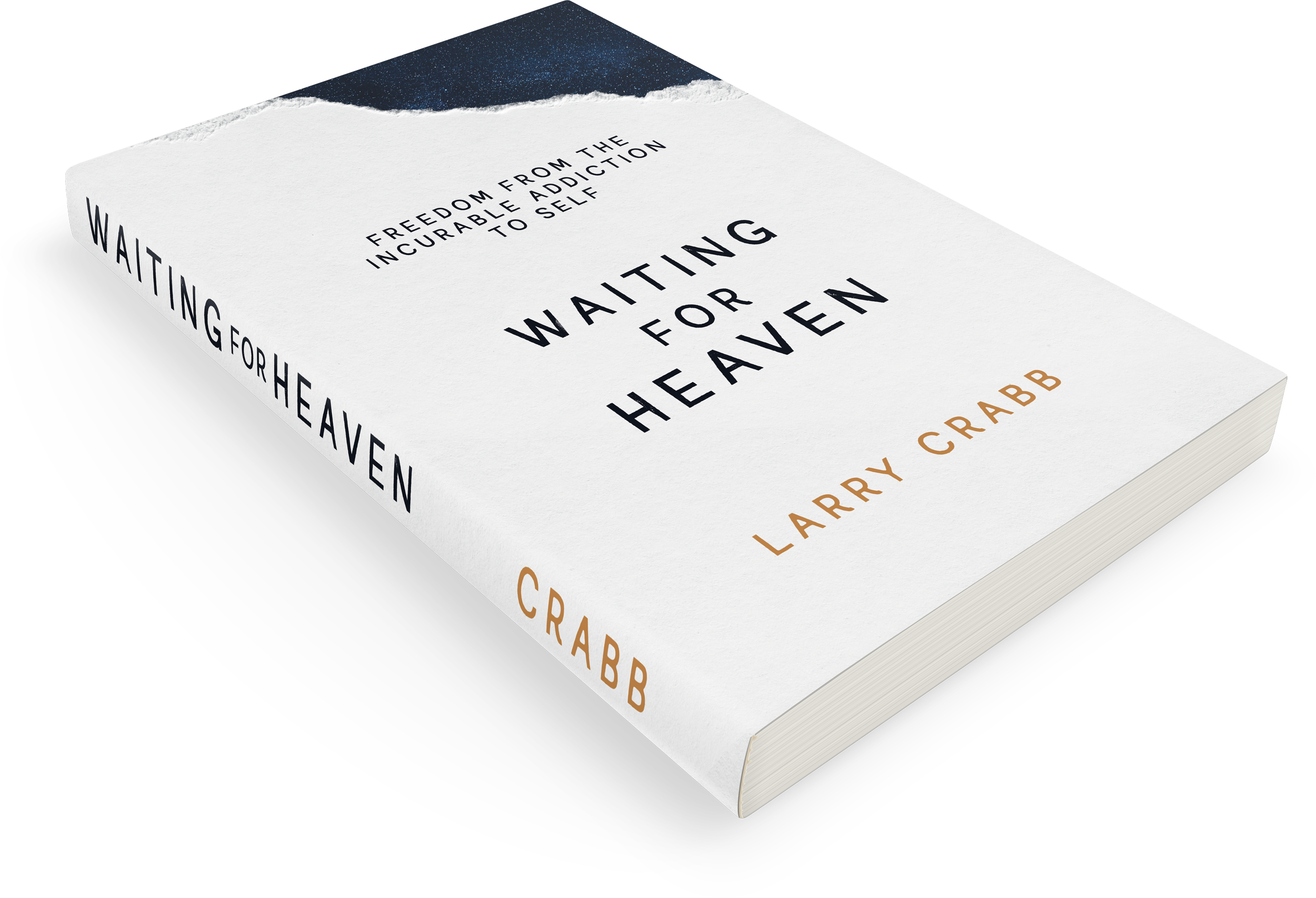 Waiting for Heaven book cover angled on a table.