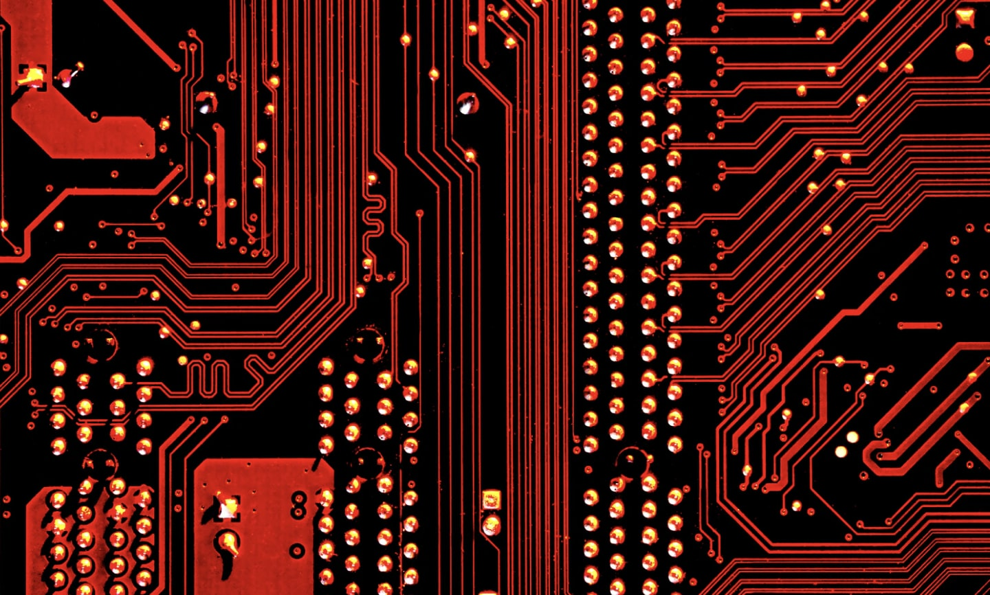 Computer circuitboard picture to represent cybersecurity