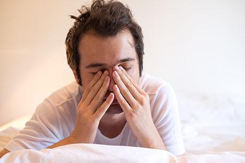Morning headaches are a common sleep apnea side effect
