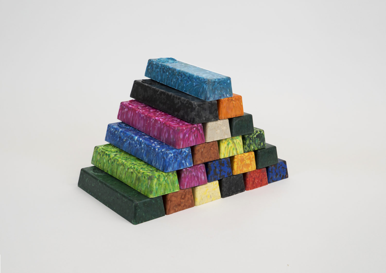 plastic recycled ingots.