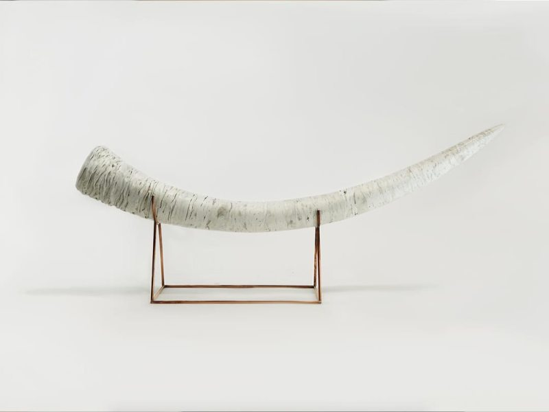 Horn made of recycled plastic