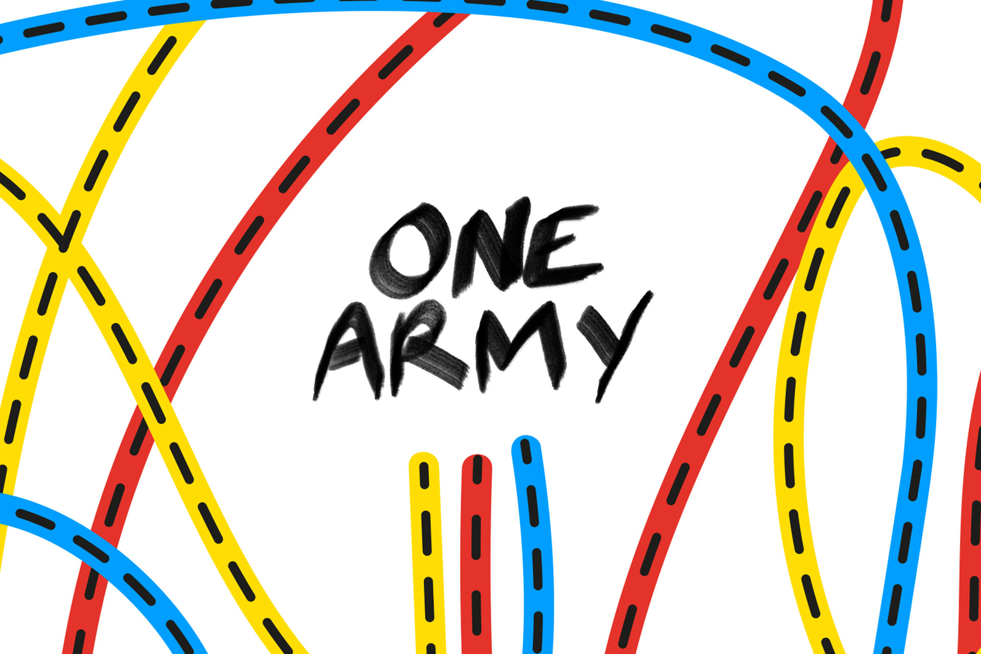 One Army colourful illustration