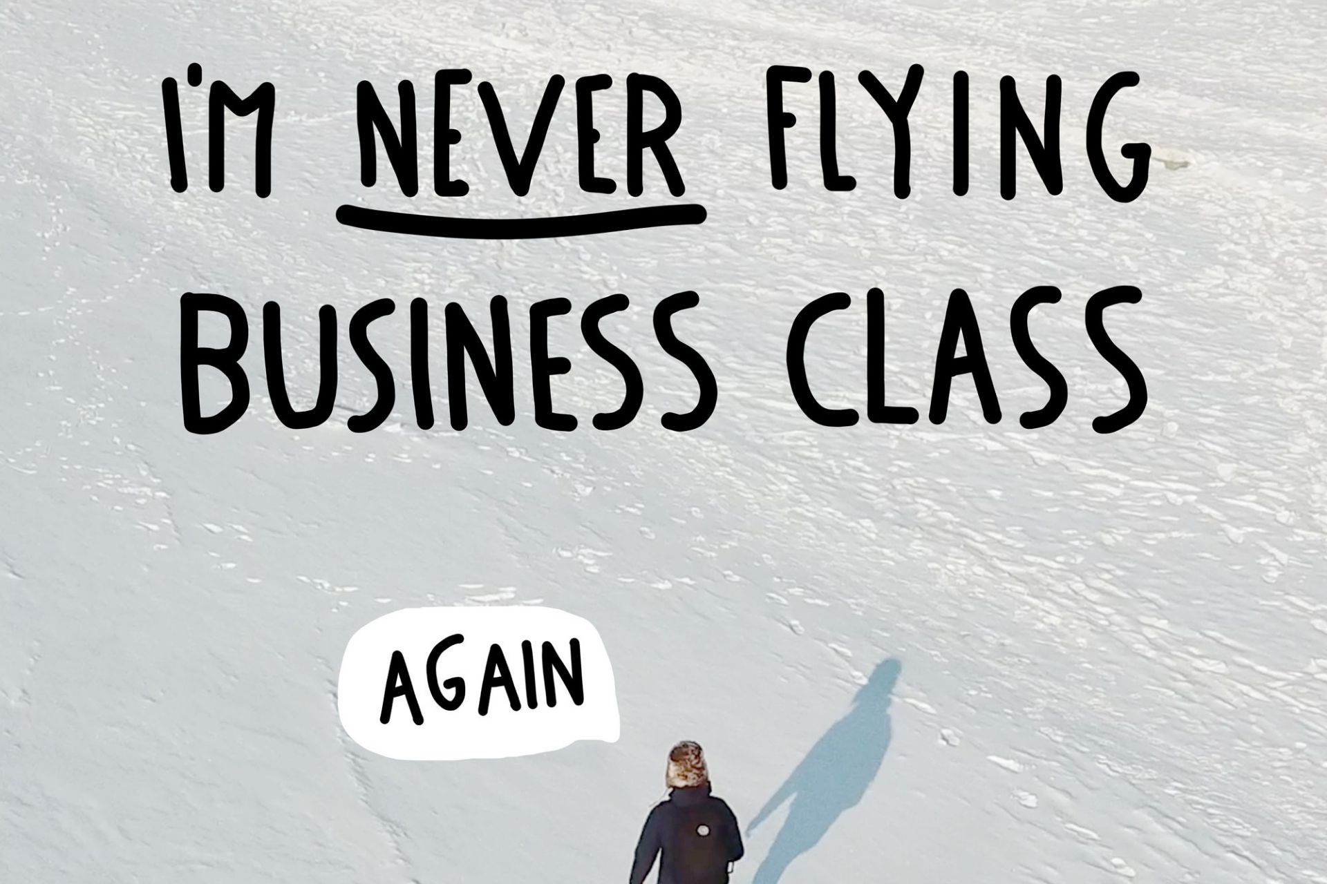 """Dave walking on snow during the Trans-Siberian journey """"I'm never flying business class again"""""""